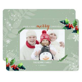Playfully Merry Berry Holiday Photo Card
