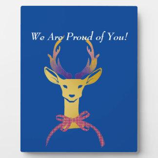 Playfully Preppy Gold Deer Antler Plaque