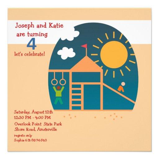 Playground Birthday Party Invitation
