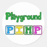 Playground Pimp Classic Round Sticker