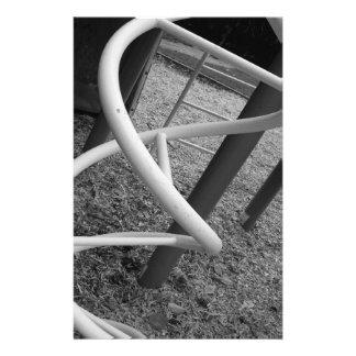Playground Spiral Black White Custom Stationery