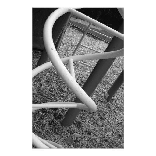Playground Spiral Black & White Custom Stationery
