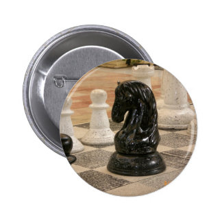 Playing a game of Chess Pinback Button