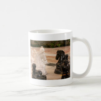 Playing a game of Chess Classic White Coffee Mug
