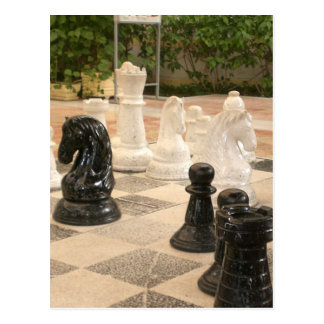 Playing a game of Chess Postcard