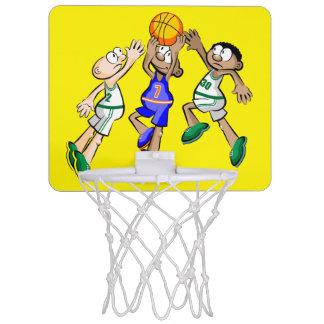 Playing baskeyball mini basketball hoop