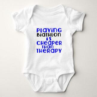 Playing Biathlon Cheaper Than Therapy Baby Bodysuit