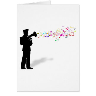 Playing Brass Instrument Card