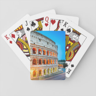 Playing card Colosseum Rome Italy
