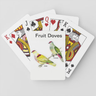Playing card deck with a pair of Fruit Doves