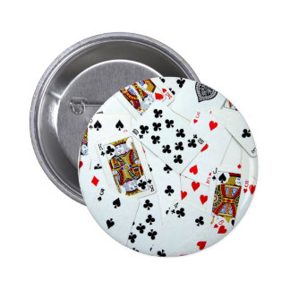 Playing Card games 6 Cm Round Badge