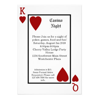 Playing Card King Queen Personalized Invitations
