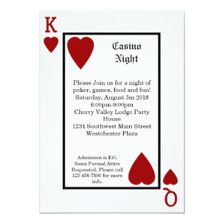 Playing Card King/Queen Personalized Invitations