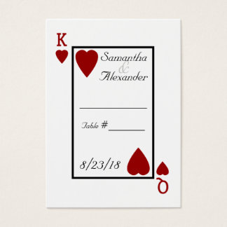 Playing Card King/Queen Table Place Cards