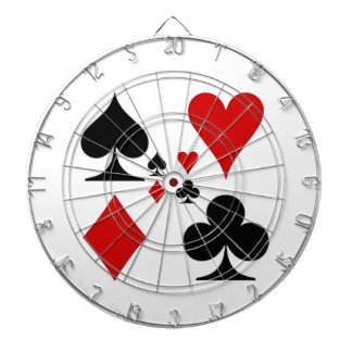 PLAYING CARD SUITES GIFTS DARTBOARD