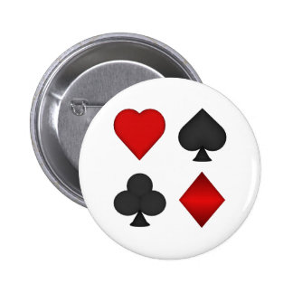 Playing Card Suits: 6 Cm Round Badge
