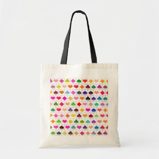 Playing card suits budget tote bag