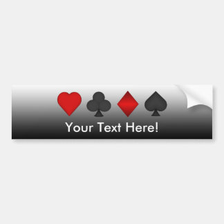 Playing Card Suits: Bumper Sticker