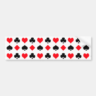 Playing Card Suits Bumper Sticker