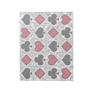 PLAYING CARD SUITS Notepad