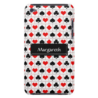 Playing card suits pattern iPod touch case