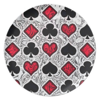 PLAYING CARD SUITS Plate