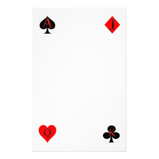 Playing Card Suits Stationery
