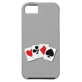 Playing Card Suits Tough iPhone 5 Case
