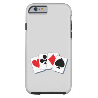 Playing Card Suits Tough iPhone 6 Case