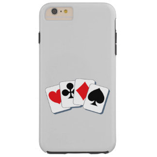 Playing Card Suits Tough iPhone 6 Plus Case