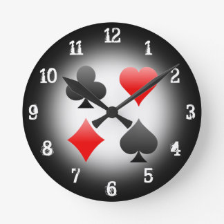 Playing Card Suits: Wall Clock
