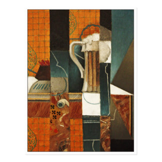 Playing Cards and Glass of Beer by Juan Gris