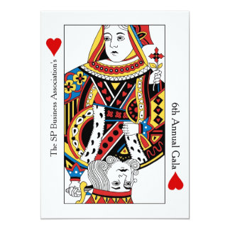 Playing Cards Annual Gala n Charity Auction 13 Cm X 18 Cm Invitation Card