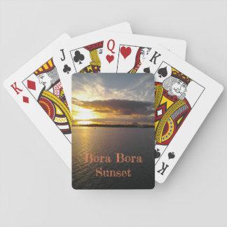 Playing Cards Bora Bora Sunset deck