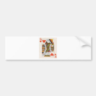 PLAYING CARDS BUMPER STICKER