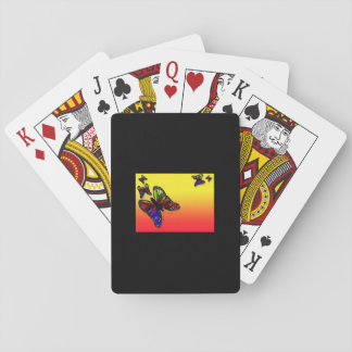 playing cards, butterfly playing cards