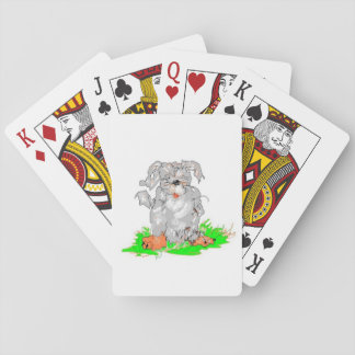 Playing cards Cartoon of a Dog