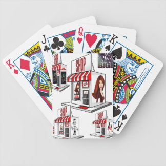 Playing cards cosmetologist shop for her