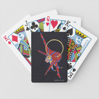 Playing Cards -Distinct black and red acrobat