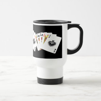 Playing Cards Gambling fun travel mug
