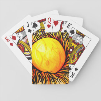 Playing cards, games for vacation, sun cards