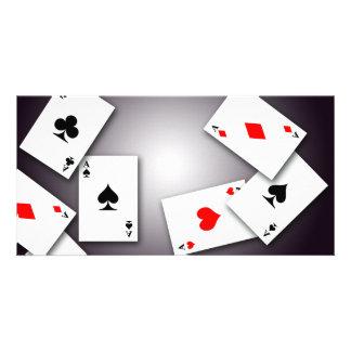 PLAYING CARDS GAMES POKER BLACKJACK GAMBLING GOFIS CUSTOMIZED PHOTO CARD