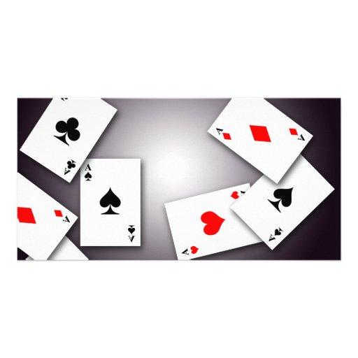 PLAYING CARDS GAMES POKER BLACKJACK GAMBLING GOFIS CUSTOM PHOTO CARD