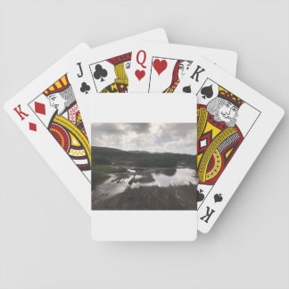 Playing cards landscape.