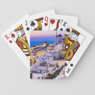 Playing cards Oia Santorini Greece