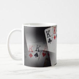 Playing Cards Quad Kings Layered Pattern, Coffee Mug