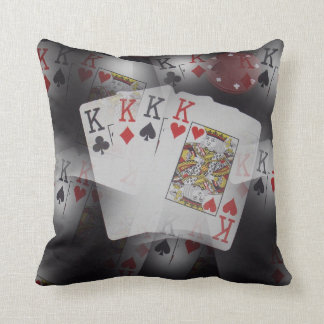Playing Cards Quad Kings Layered Pattern, Cushion