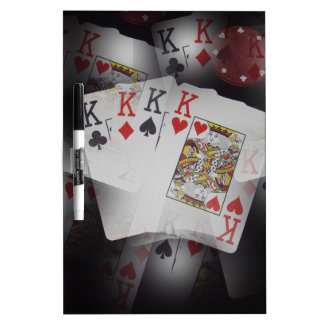 Playing Cards Quad Kings Layered Pattern, Dry Erase Board
