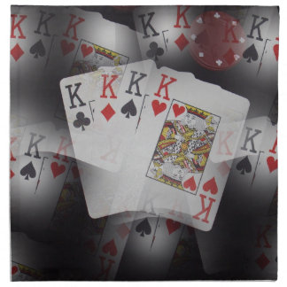 Playing Cards Quad Kings Layered Pattern, Napkin