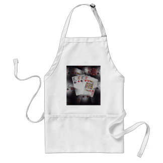 Playing Cards Quad Kings Layered Pattern, Standard Apron